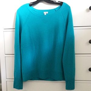 Halogen turquoise cashmere sweater